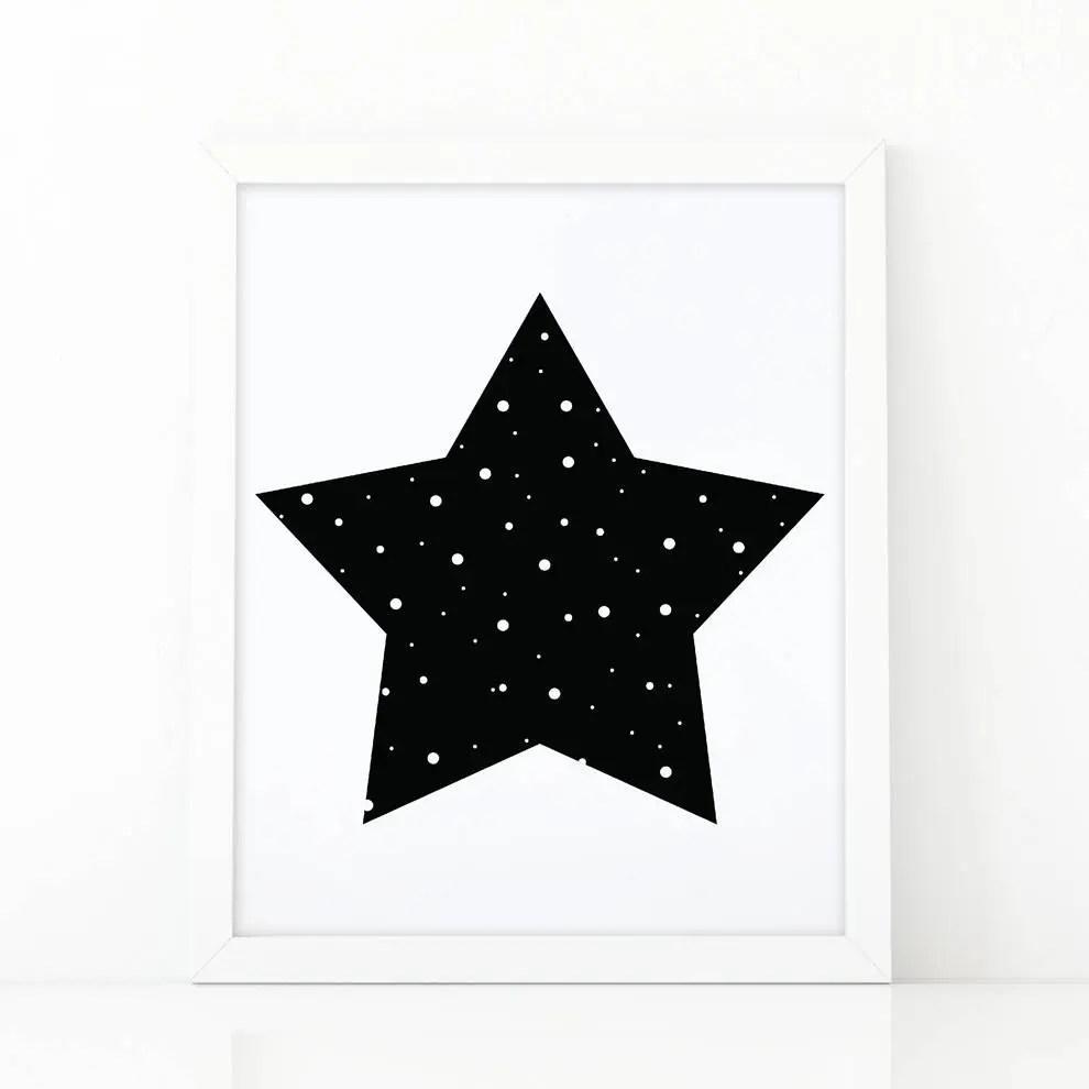 Star Print Kids wall decor Big Star Nursery star baby Etsy