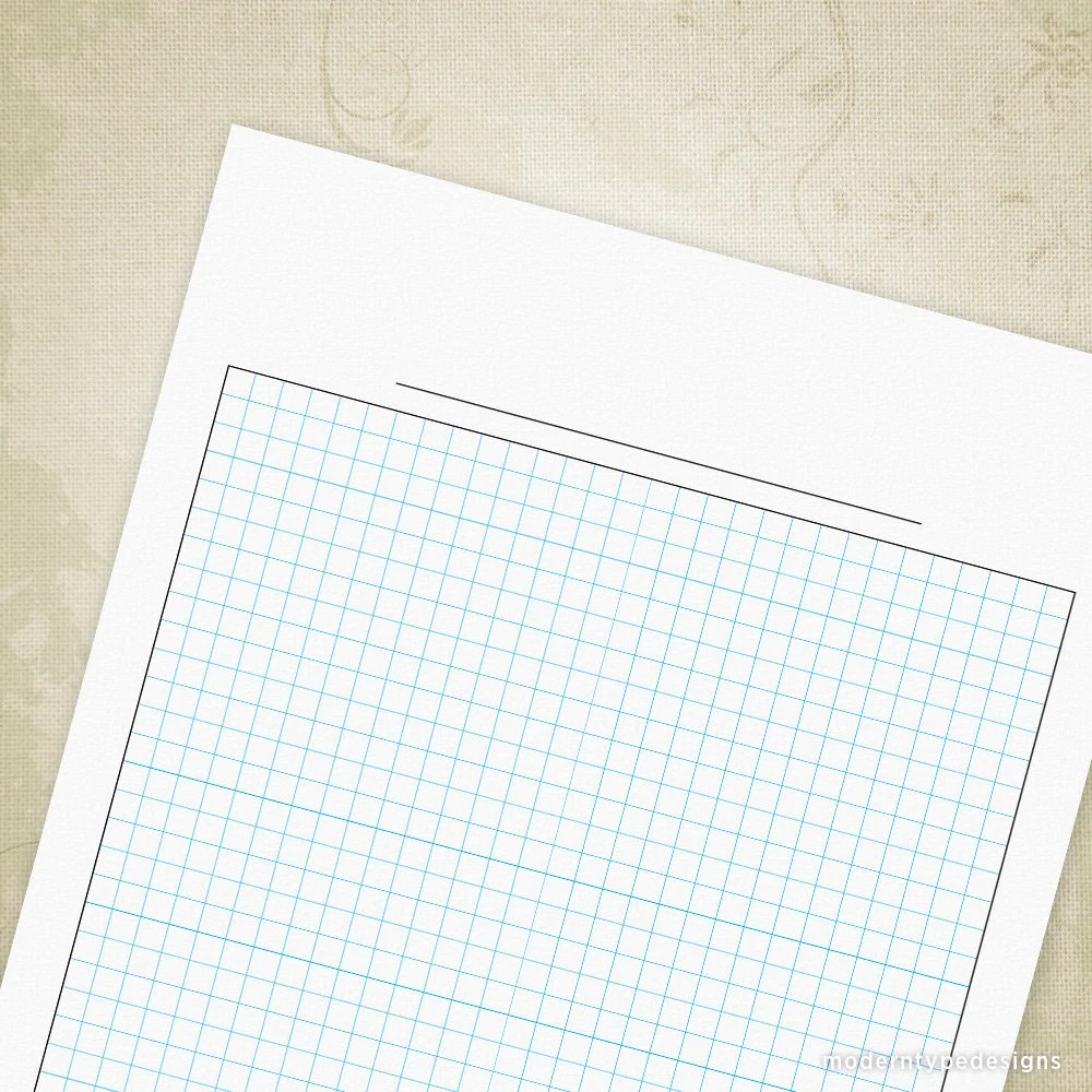 Blank Graph Paper Printable Digital Download for Clipboard Etsy