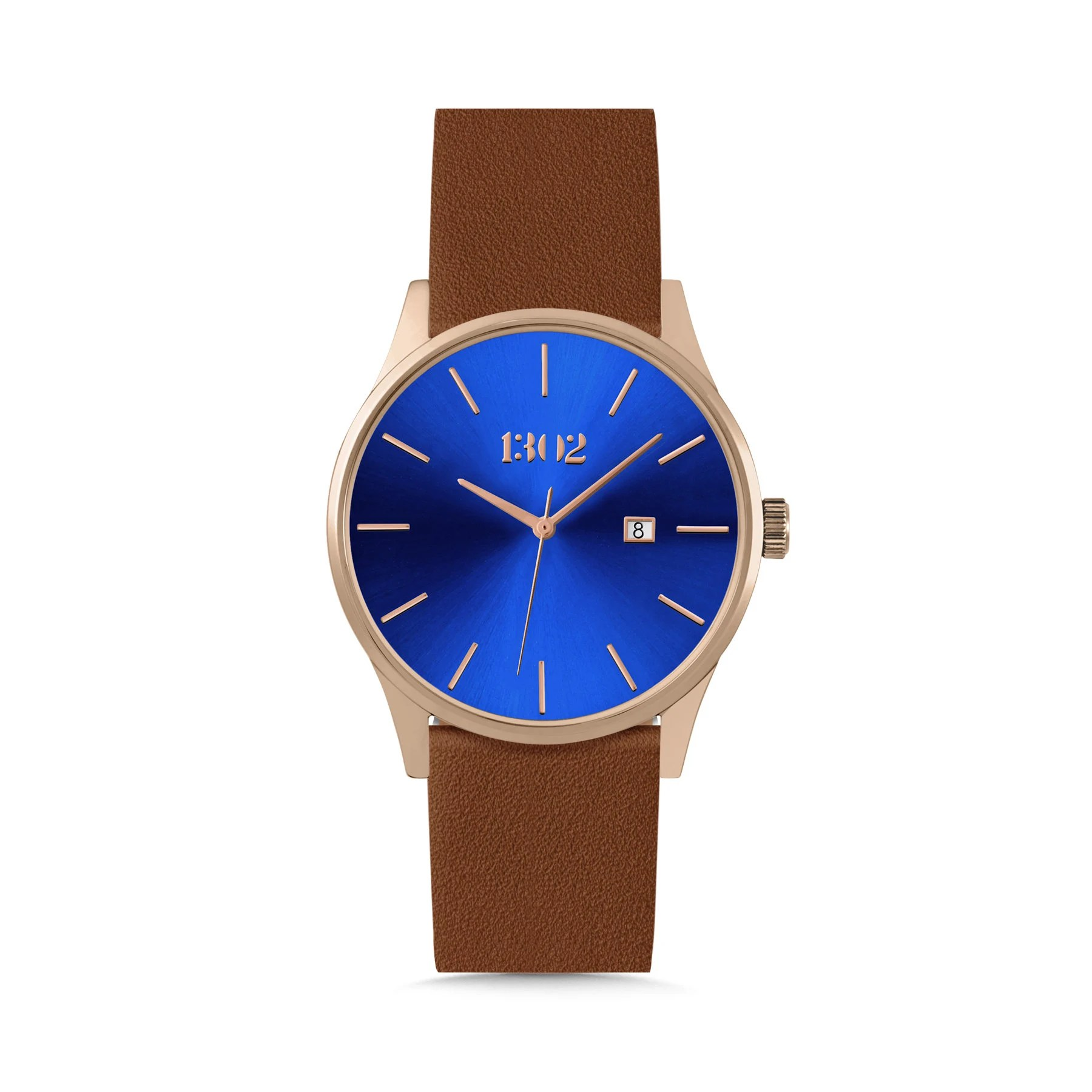 Leather Strap Rose Gold Watch Mens Watches Rose Gold Watch 42mm Case Black Leather Strap Watches For Men Minimalist Watch Leather Watch Men Mens Wrist Watches