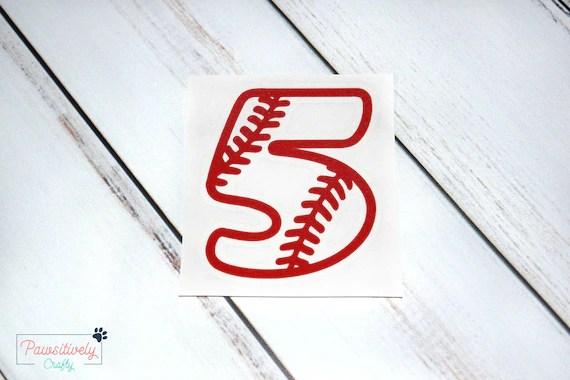 Baseball Numbers Vinyl Decal Softball Numbers Vinyl Decal Etsy