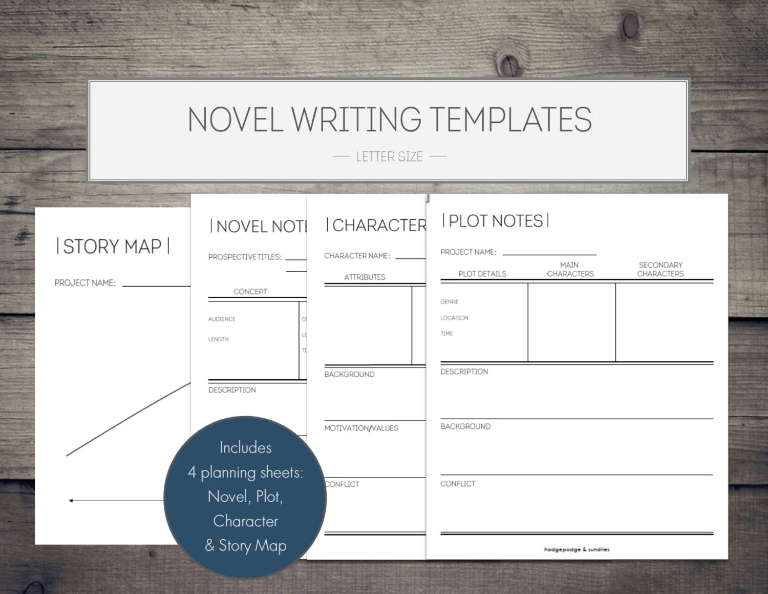 Novel Writing Printables novel template writing Etsy - blank writing sheet