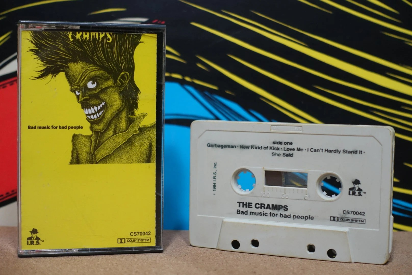 Vintage Bad Bad Music For Bad People By The Cramps Vintage Cassette Tape