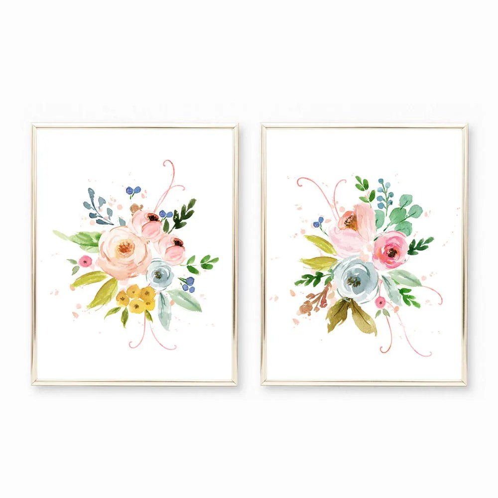 Nursery Prints Girl Baby Girl Nursery Prints Floral Watercolor Wall Art Floral Nursery Art Girl Nursery Printable Nursery Art Girl Watercolor Flower Prints