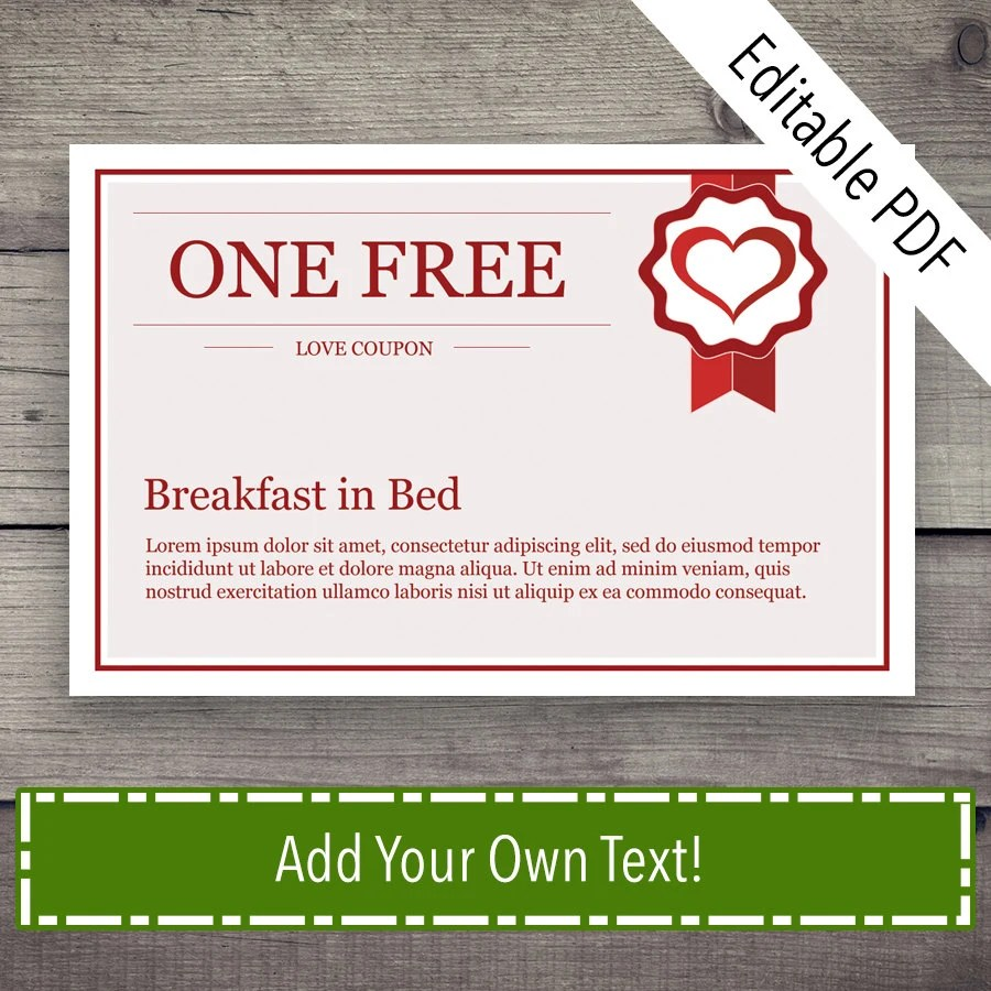 Coupon Book Coupon Template Love Coupon Love Coupons Love Etsy