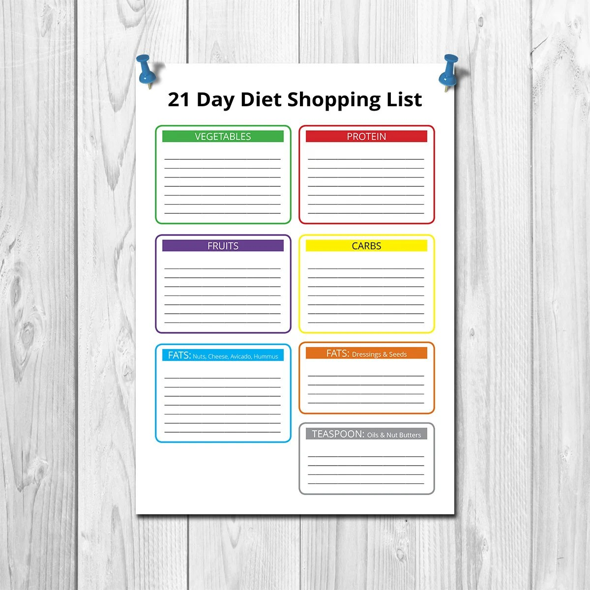 INSPIRED BY 21 Day fix Shopping List 21 day fix meal plan Etsy