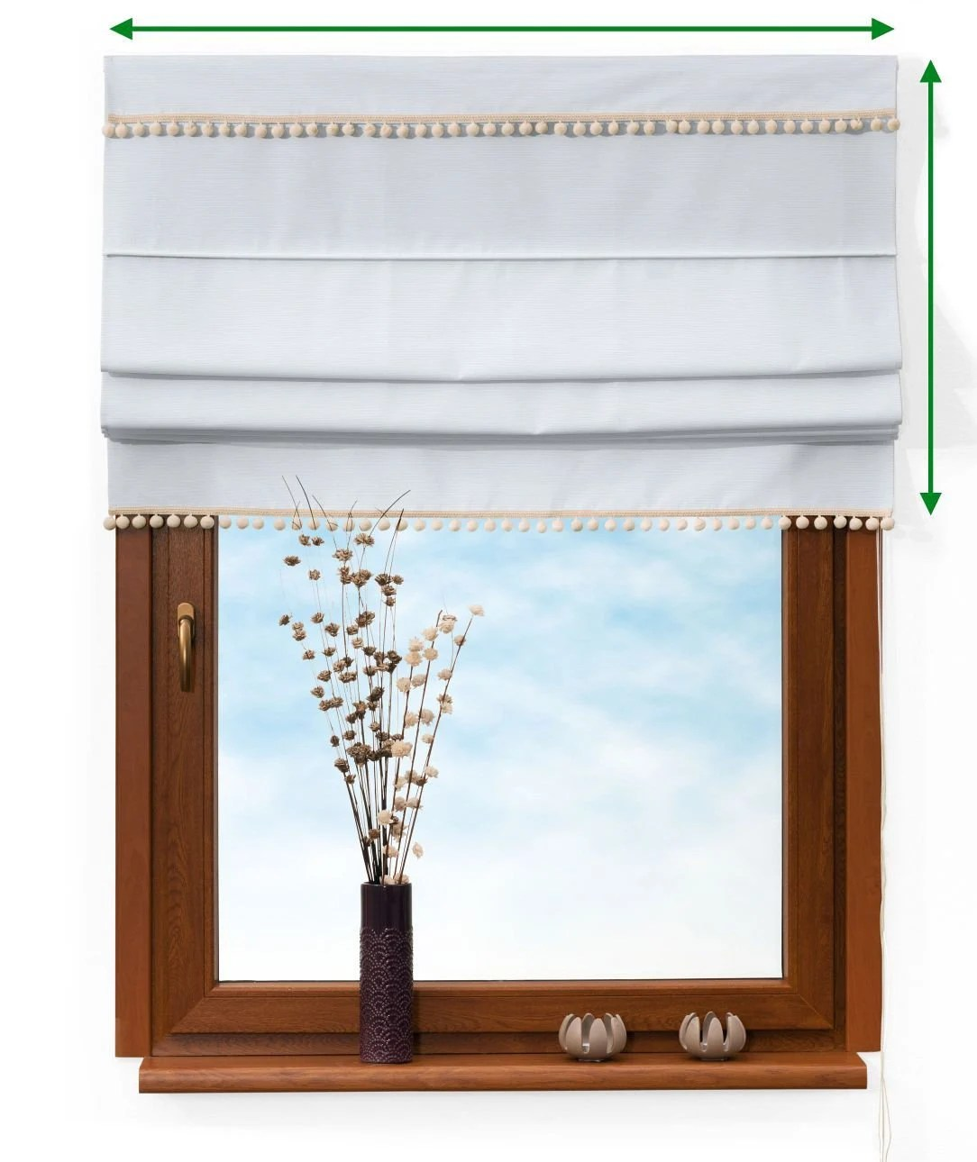 Raffrollo 150 Cm Breit Raffrollo With Bommel 100 Linen 2 Colours Custom Made Svision Protection Rollo Fabric Rollo Blinds Faltrollo Without Drilling