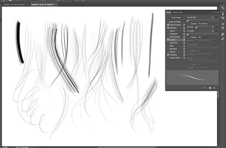 Hair Brush Photoshop abr file bonus eyelash brush by Etsy