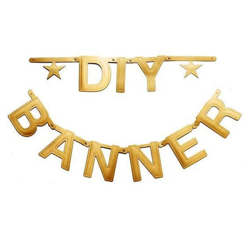 DIY Gold Letter Word Banner Kit Make Your Own Banner 122 Etsy
