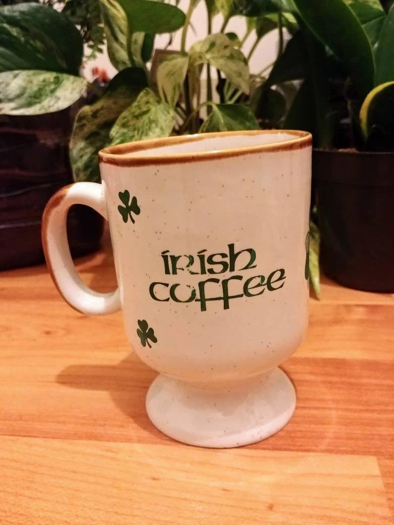 Mug En Grès Vintage Irish Coffee Mug Festival Gres Stoneware Korea Footed Stoneware Mug Ireland Shamrock St Patrick S Day St Patty S Day