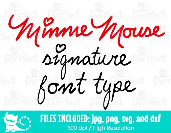 Mouse Signature Vectored Alphabet SVG Mouse Signature SVG Etsy