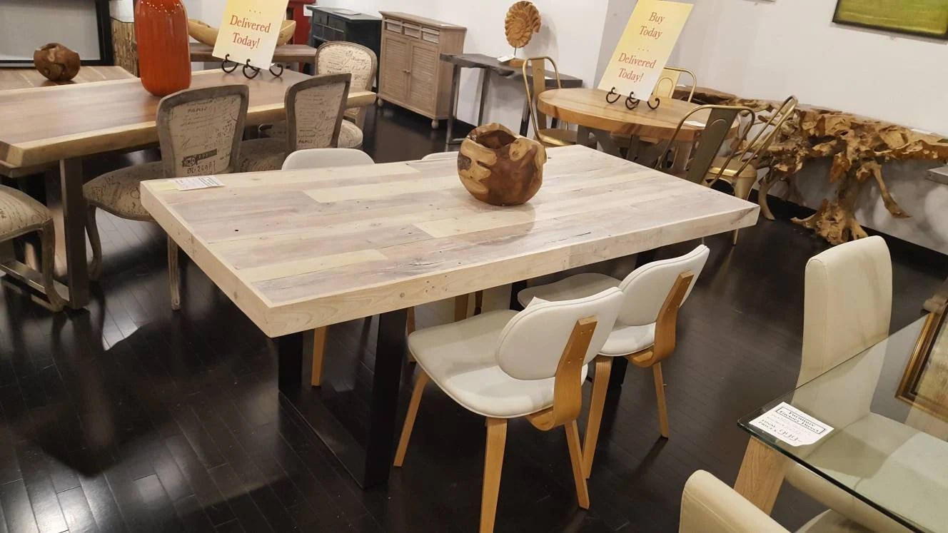 Cafe Table Sale Reclaimed Dining Table Kitchen Table Dining Cafe Table Bistro Restaurant Table Steel Legs Dinette Pallet Table White