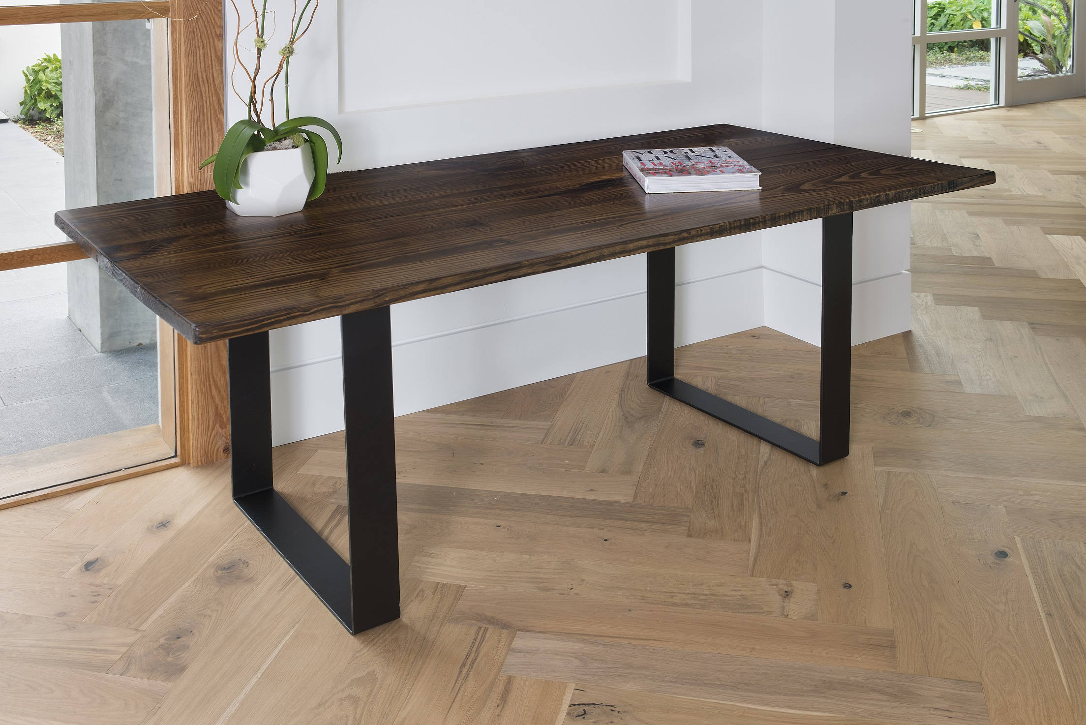 Cafe Table Sale Dining Table Kitchen Table Dining U Legs Dark Walnut Cafe Table Bistro Restaurant Table Steel Legs Dinette Walnut