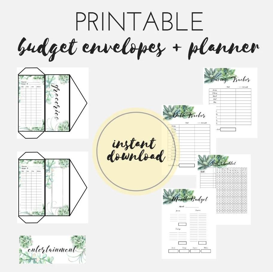 PRINTABLE Budget Printable Dave Ramsey Snowball Cash Etsy