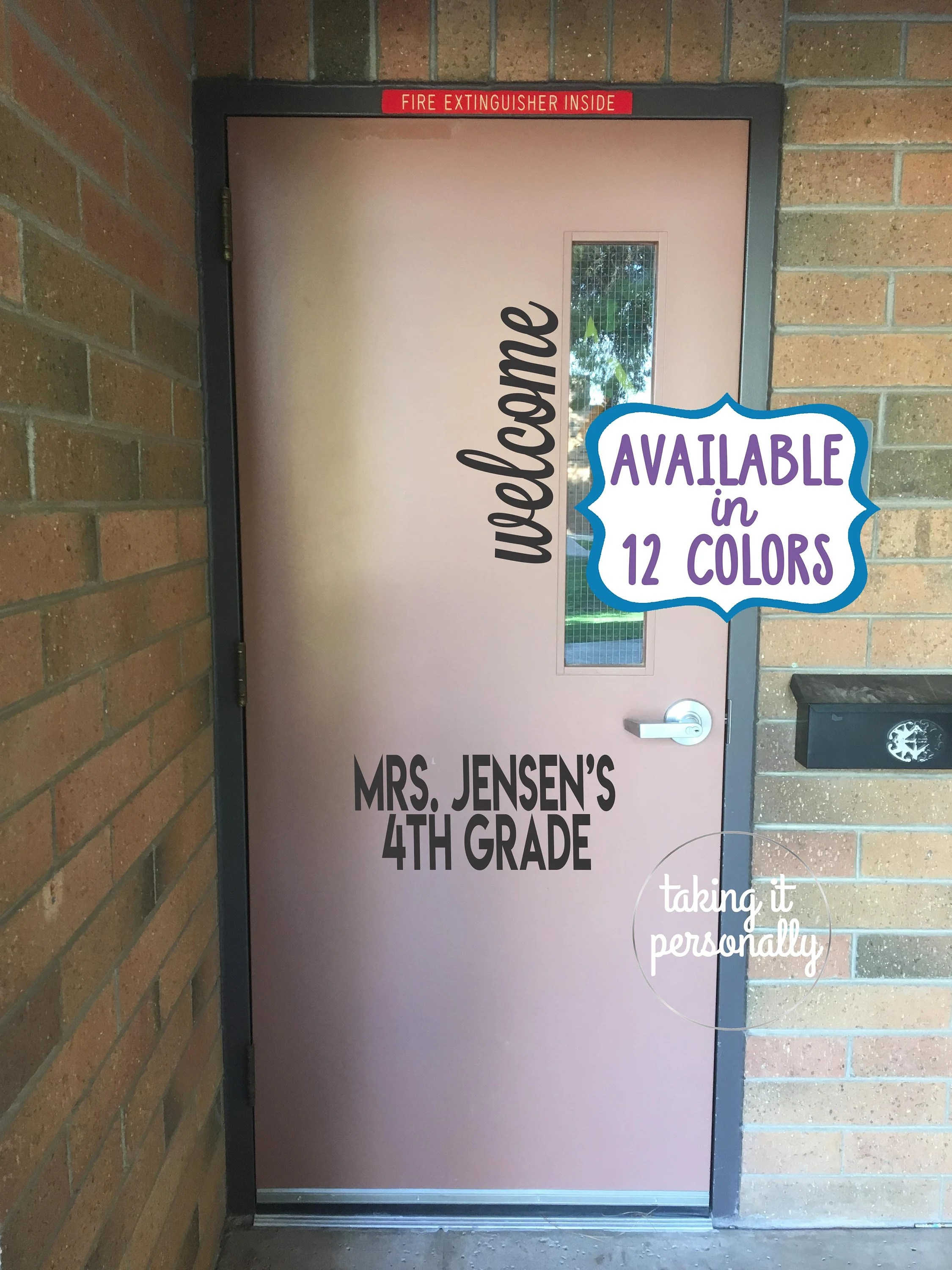 Keuken Geyser Classroom Door Welcome Vinyl