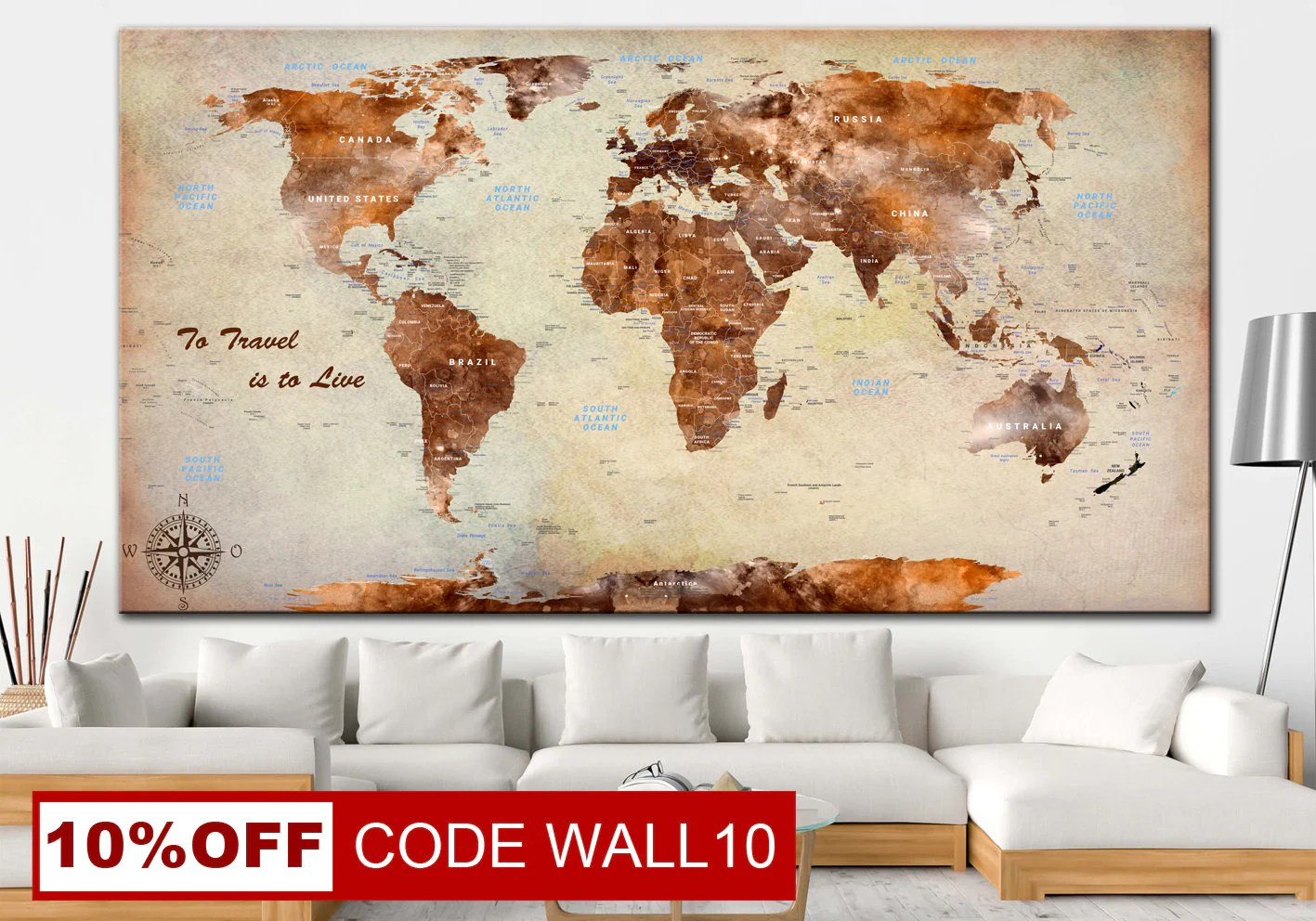 Wall Prints For Living Room Australia Xxl World Map Art Beige Print Brown Art Vintage World Map Framed Beige Print Brown Art World Map Print Set Frameless Wall Art Office Decor