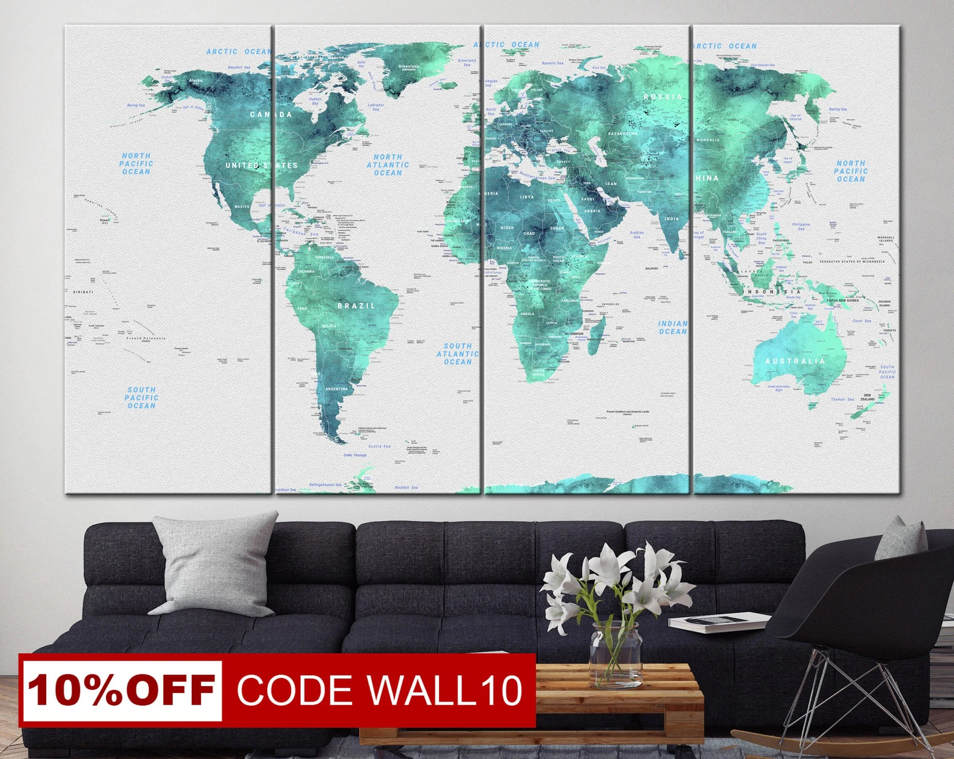 Wall Prints For Living Room Australia Large Wall Prints Map White Print Turquoise Art Light Blue Art Photo Print Map Set Print Map Picture Frameless Wall Map Living Room Wall Art