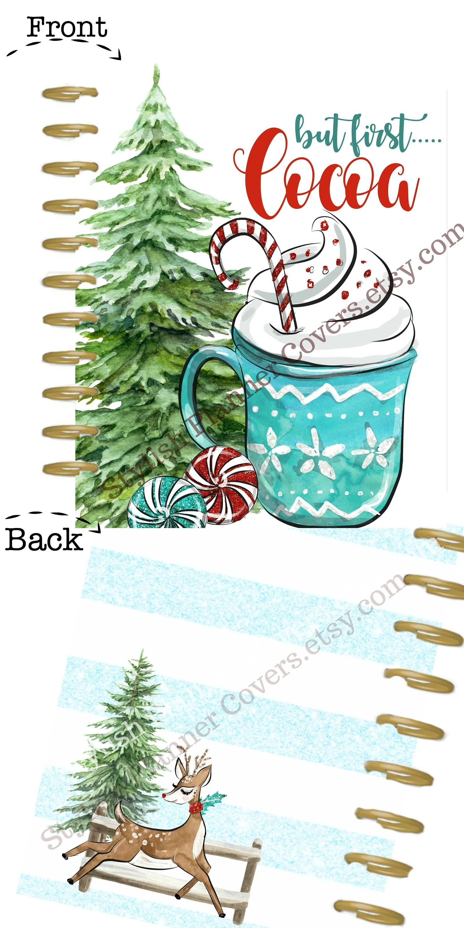 Printable Happy Planner Cover Christmas Holiday Planner Etsy