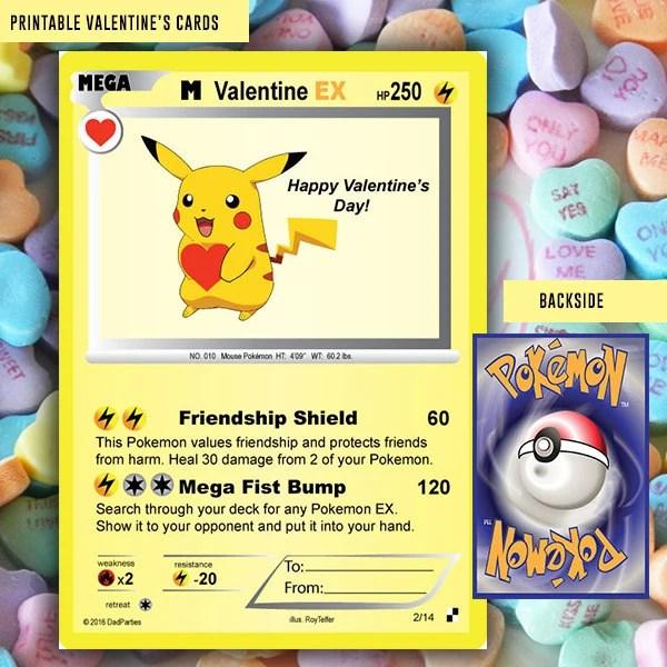 Pokemon Valentine Pokemon Kids Valentine Card Etsy