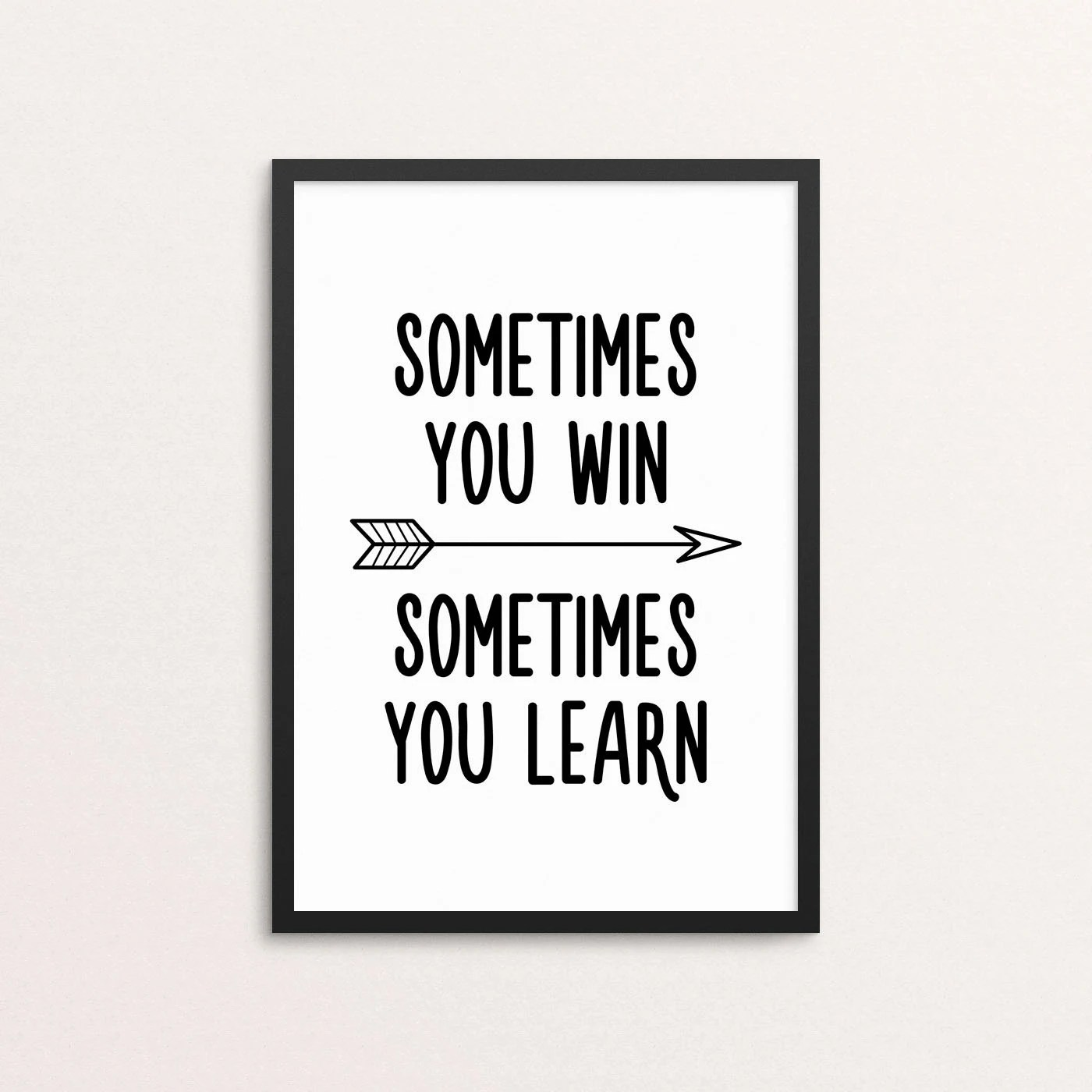 Tappeto Musicale Jump& Sometimes You Win Sometimes You Learn Scandi Style Motivational Home Decor Nursery And Kids Room Digital Download