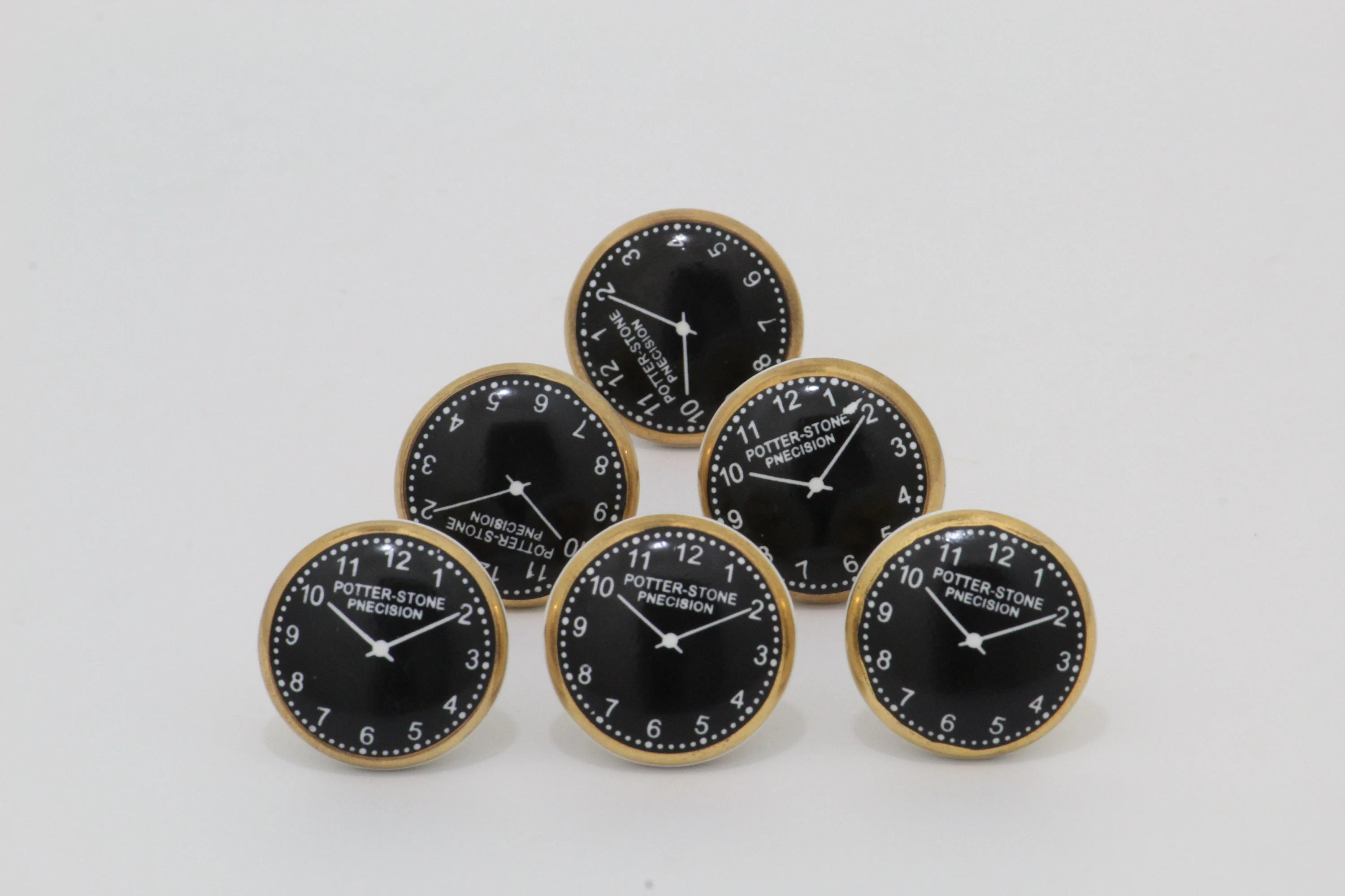 Special Clock Special Clock Design Black And Golden Ceramic Knobs For Cabinet Dresser Drawers Poignées Céramique Cabinet Pulls Perillas Boutons Omk220