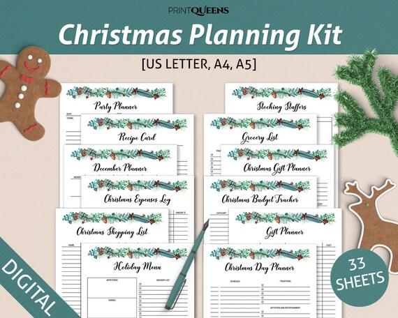 Christmas Planner, Christmas Printables, Holiday Planner, Printable