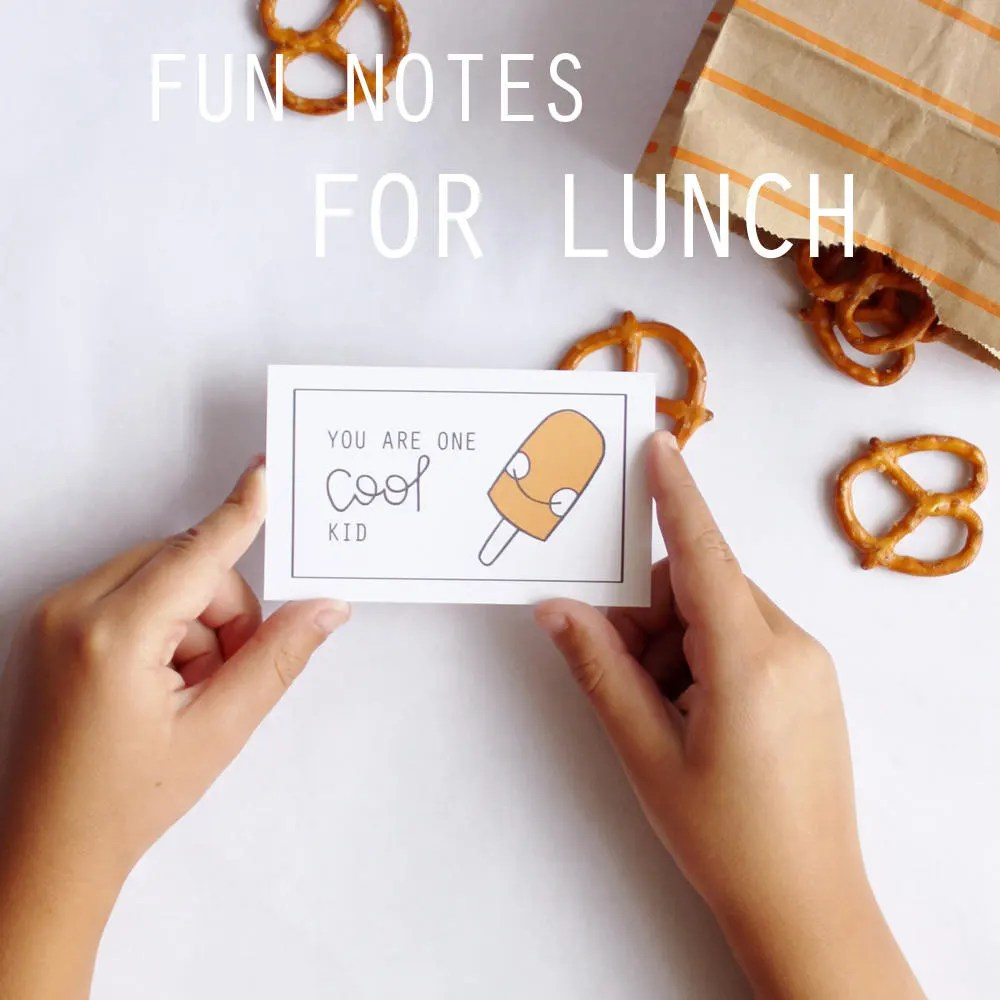 Fun Lunch Time Note Printables First Day Back to School Notes Etsy
