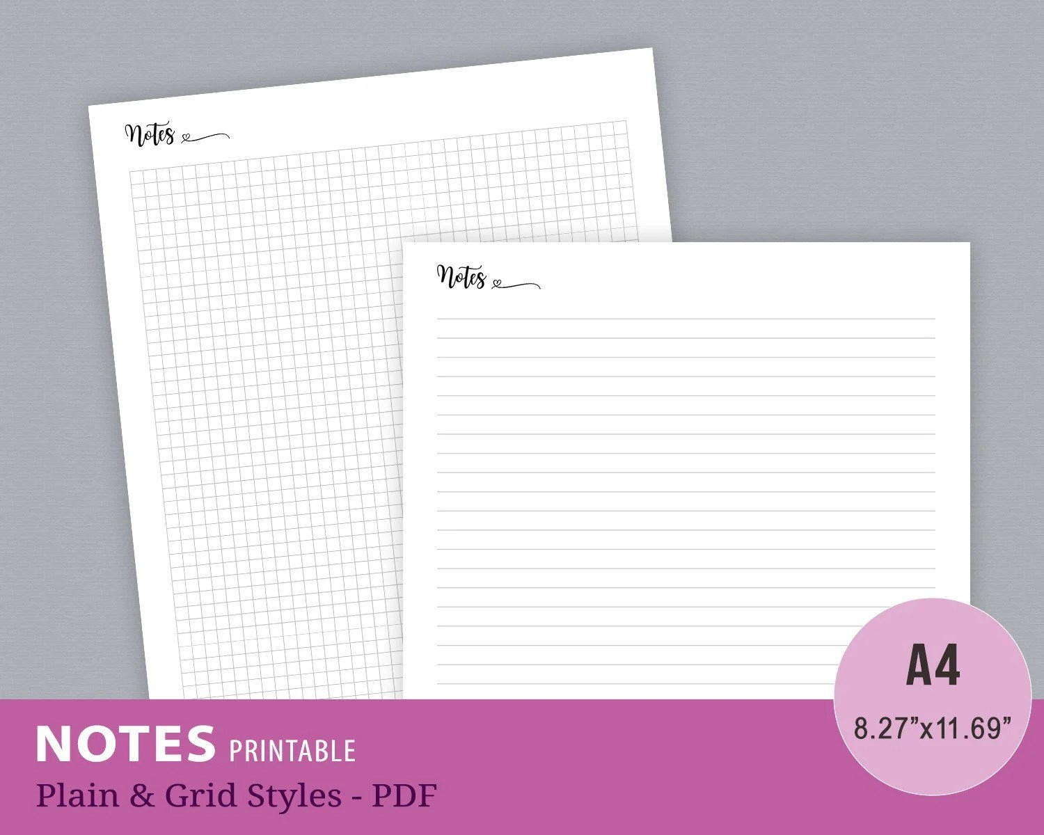 Notes Page Template Notes Page Printable Notes Template Etsy