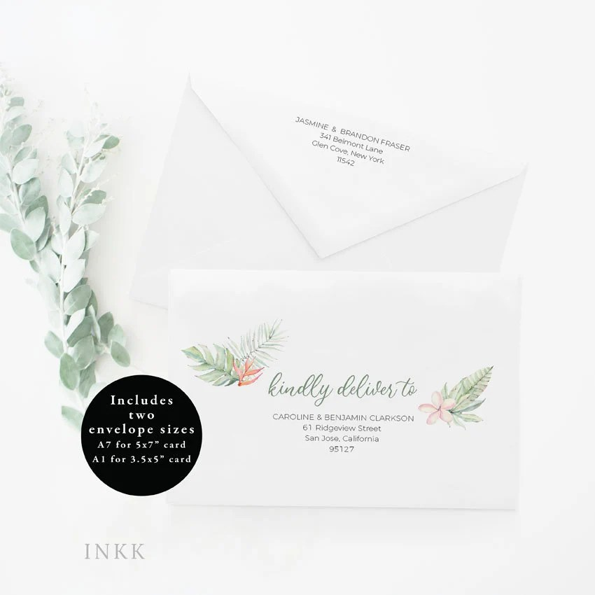 Sample 5×7 Envelope Template Best size of a44 envelope - Sample 5x7 Envelope Template