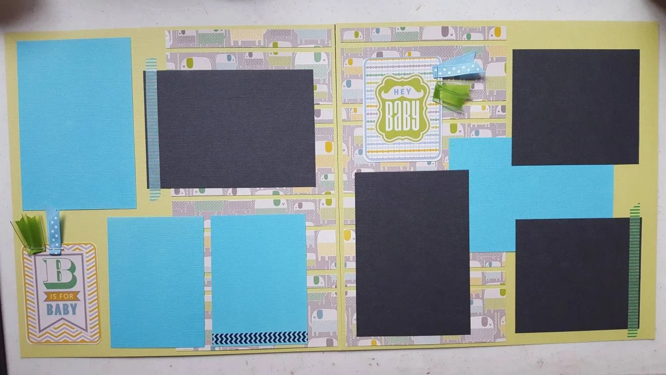 Baby boy pre-made 12x12 Scrapbook pages Etsy