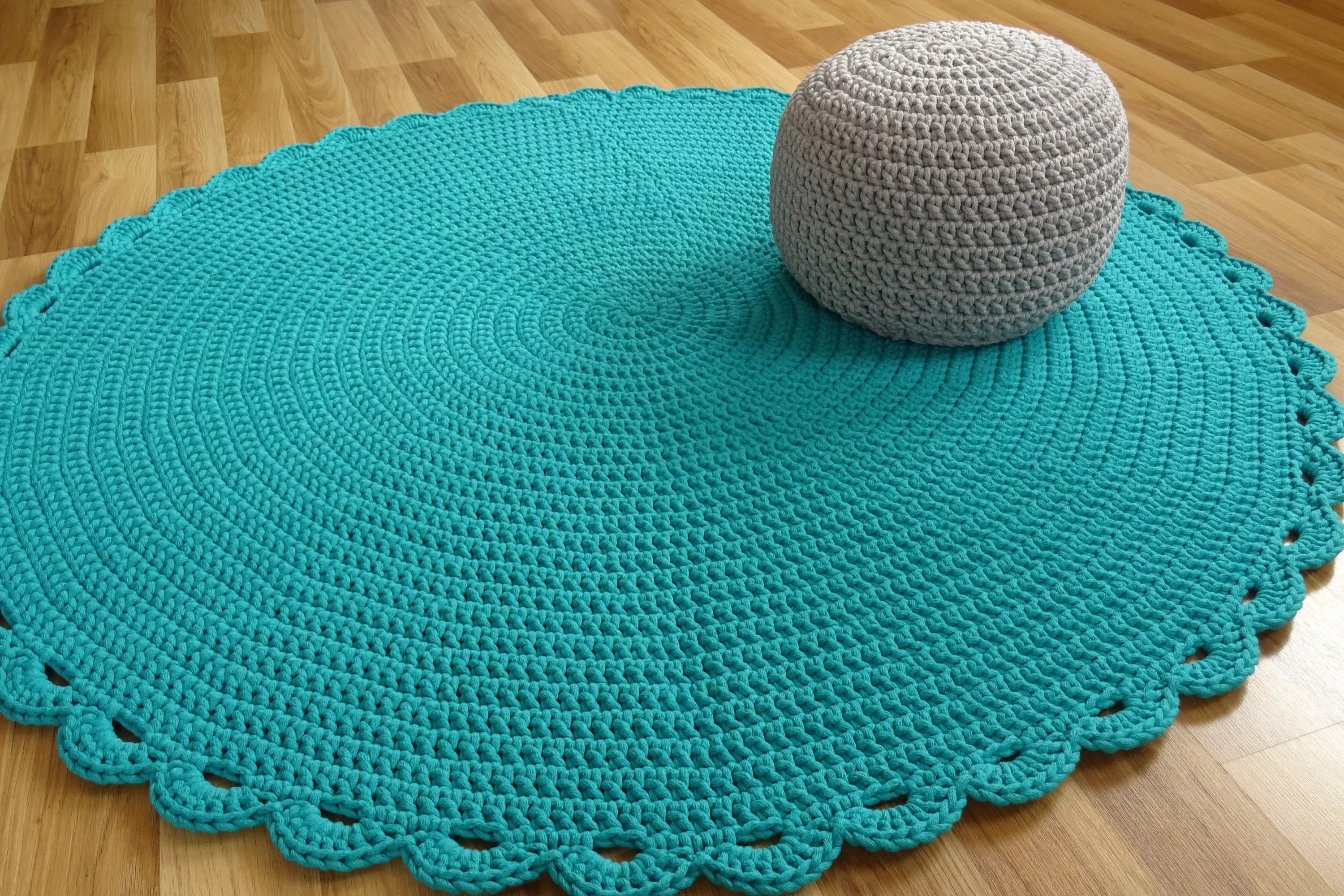 Pouf Sitzkissen Pouf Round Ottoman Scandinavian Baby Boy Floor Pillows Footstool Crochet Pouf Nursery Decor Kids Pouf Stuffed Pouf Sitzkissen Siege