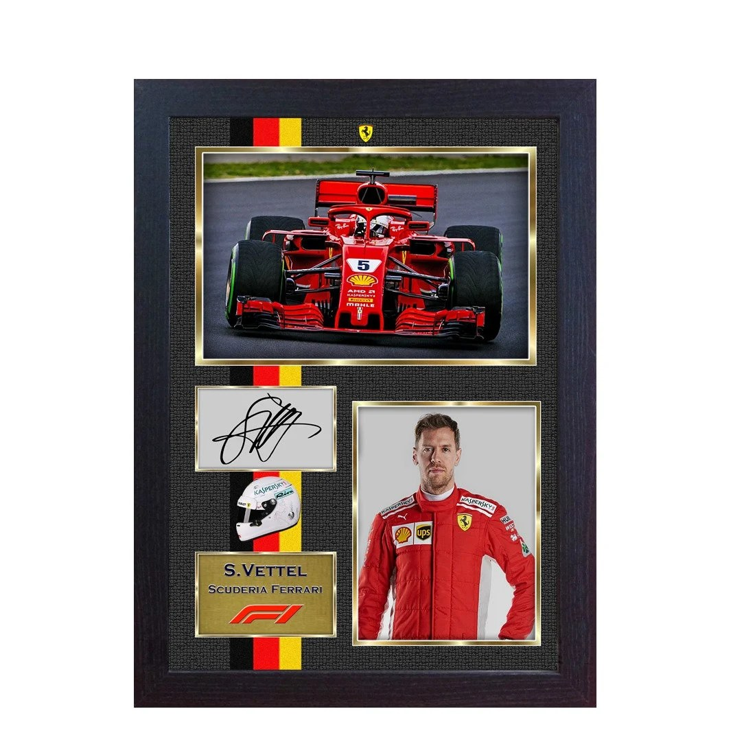 Audi Bettwäsche New 2018 Sebastian Vettel Ferrari Formula 1 Signed Autograph Photo Print Framed