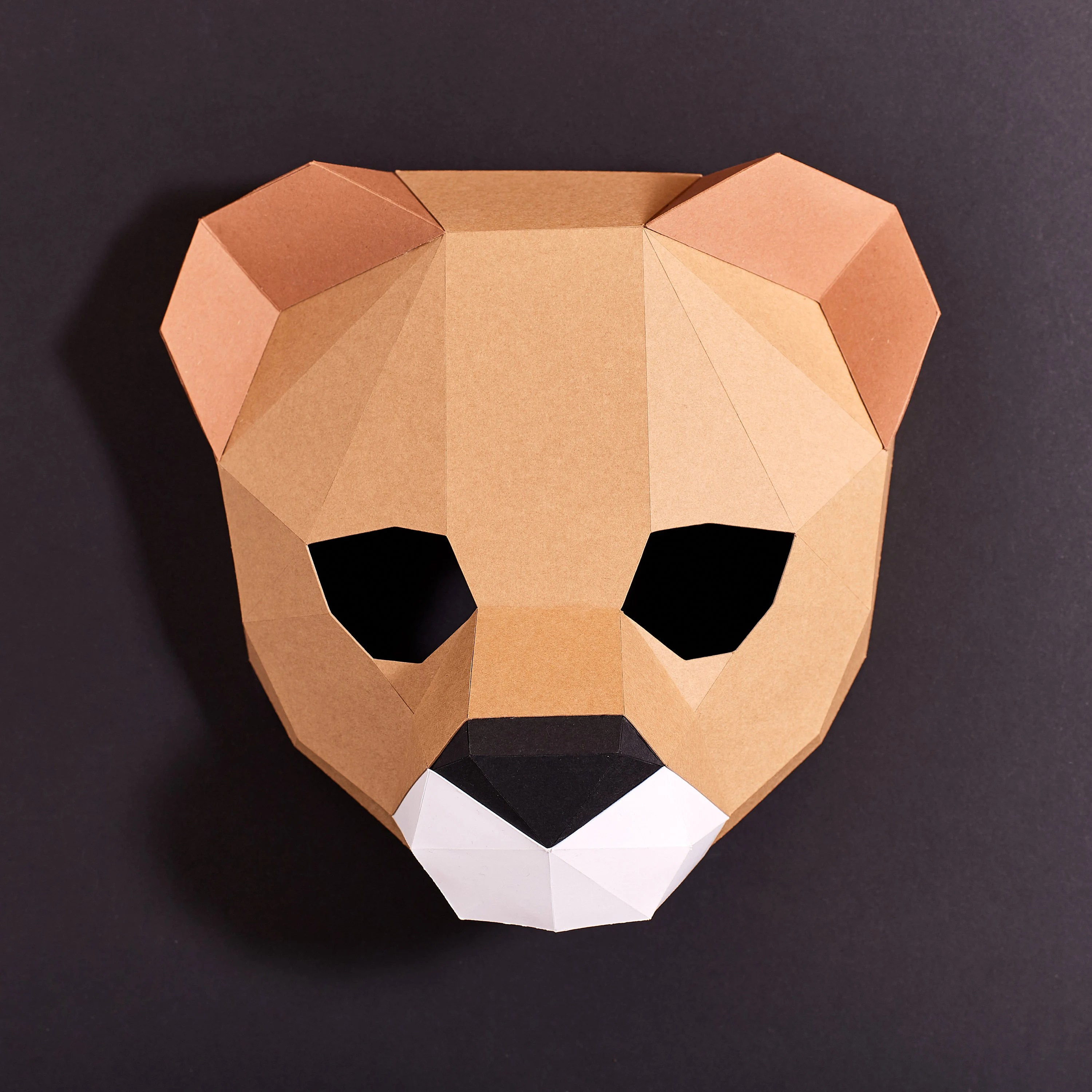 Lion Mask for kids Printable Animal Mask for Children Pdf Etsy