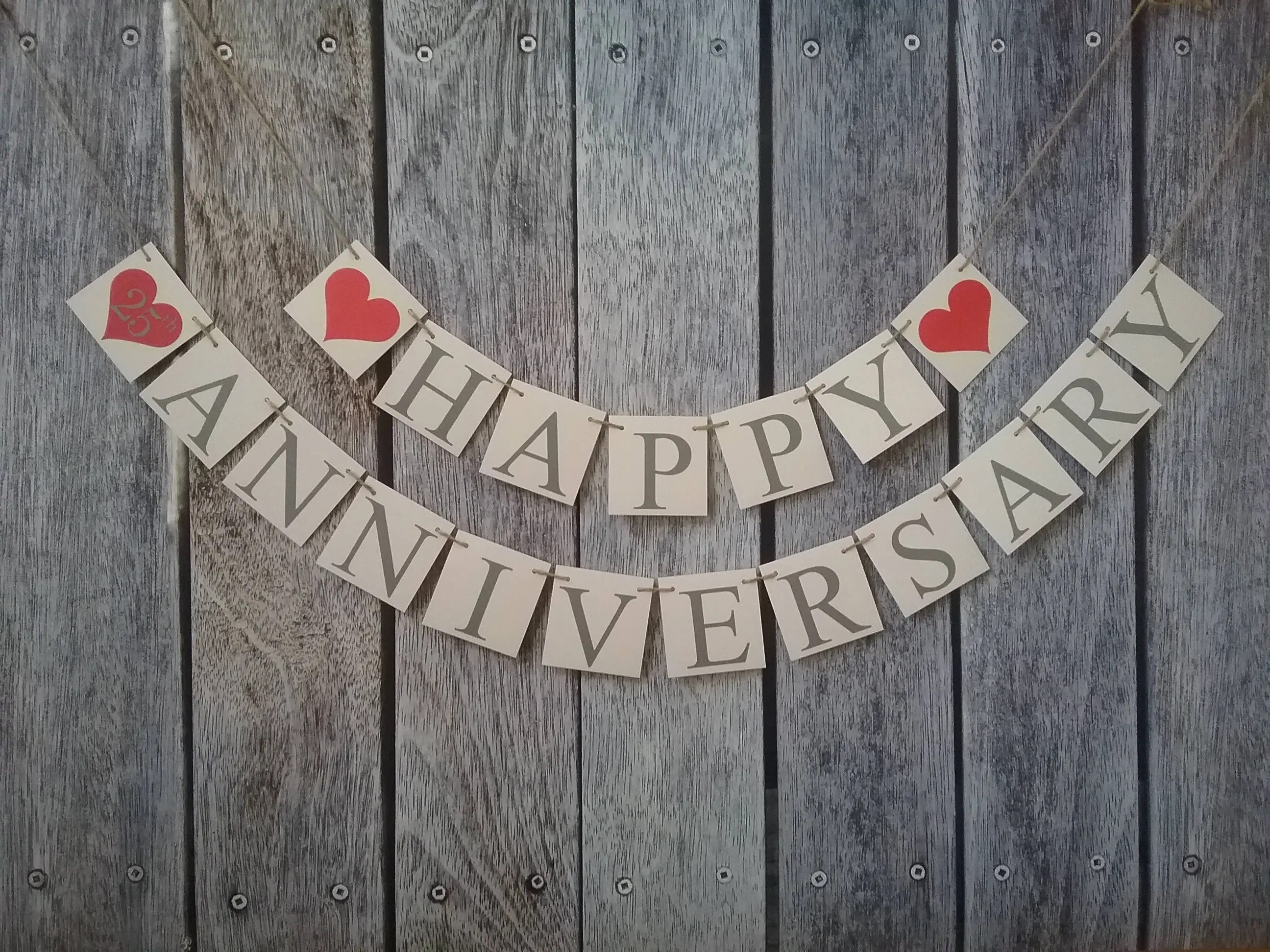 happy anniversary banner wedding anniversary banner 25th Etsy