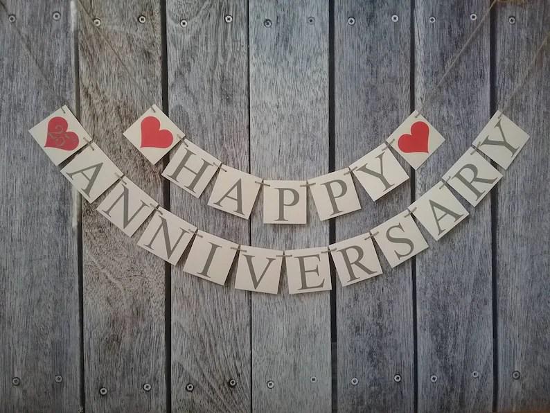 Happy anniversary banner wedding anniversary banner 25th Etsy