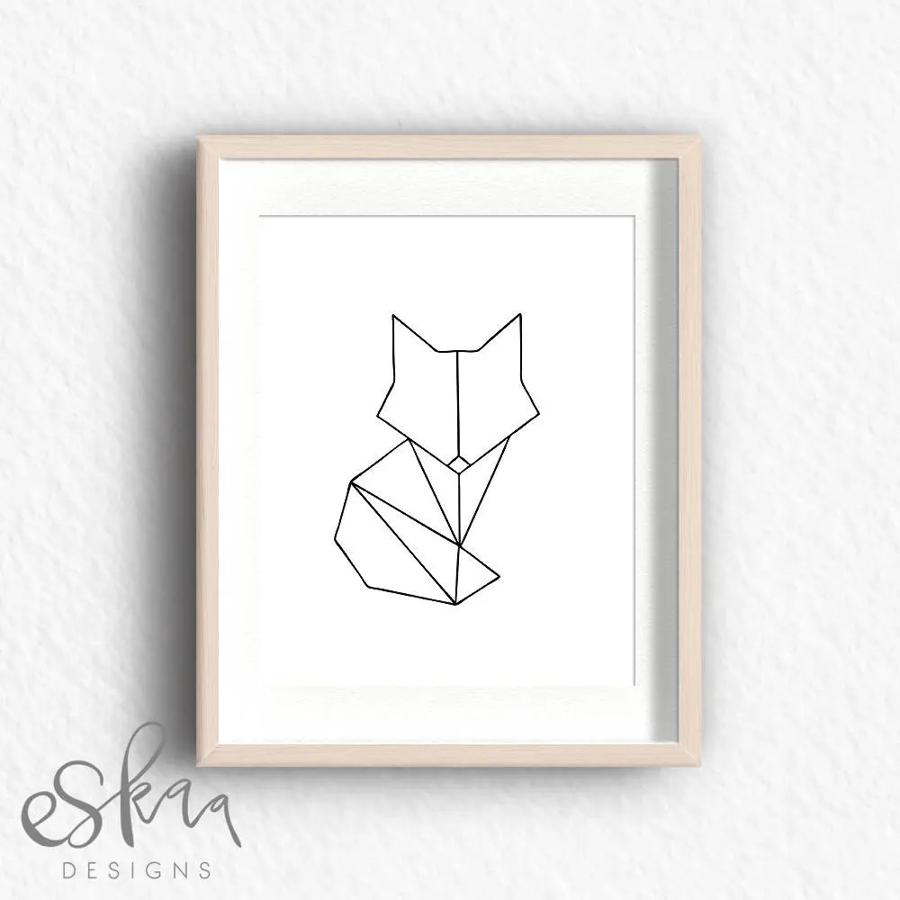 Fox Meubles Algerie Geometric Fox Geometric Fox Print Minimalist Poster Fox Print Fox Art Geometric Animal Geometric Art Fox Wall Art Fox Printable Fox