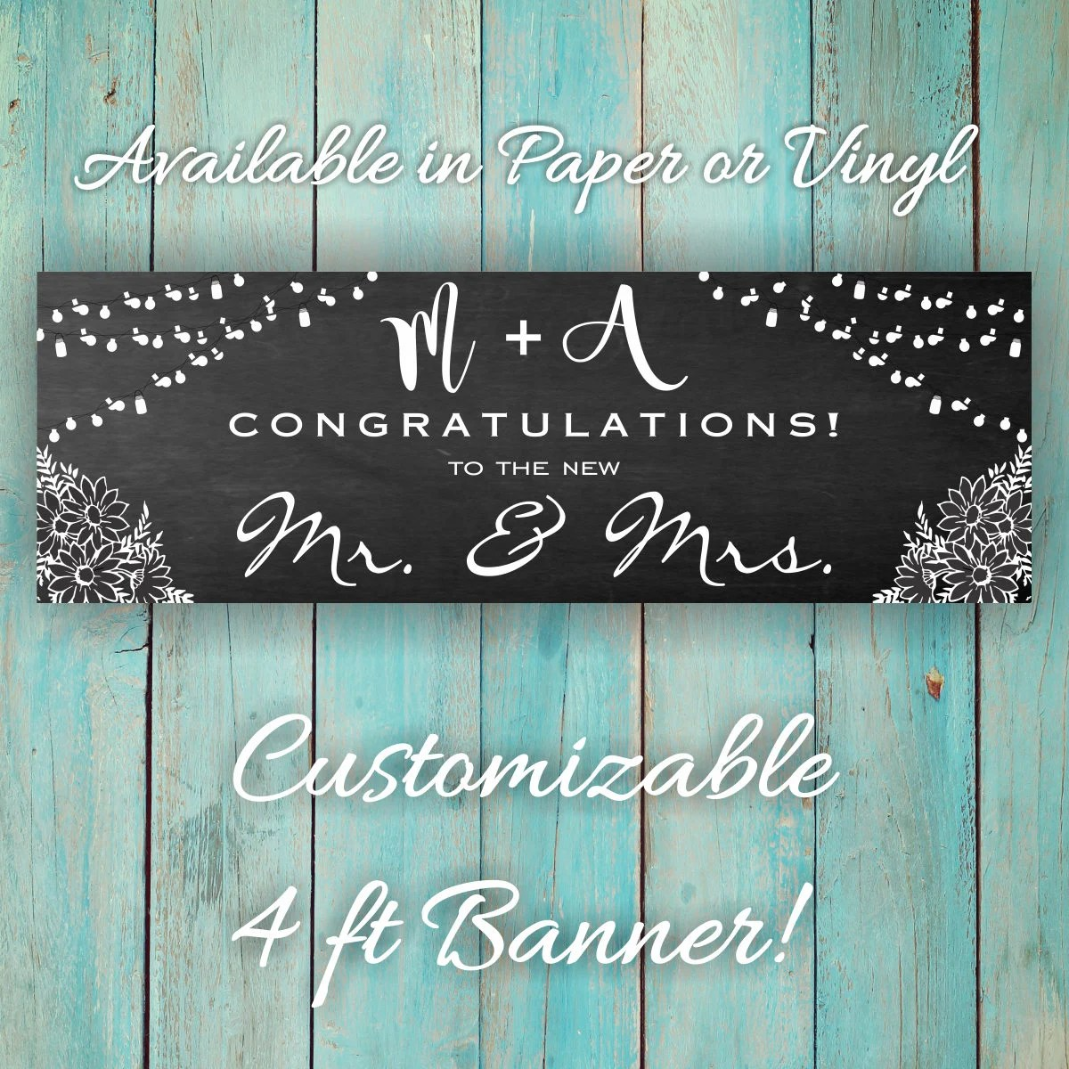 Cute Custom Congratulations 4ft X 18inches Banner DIY Personal Etsy