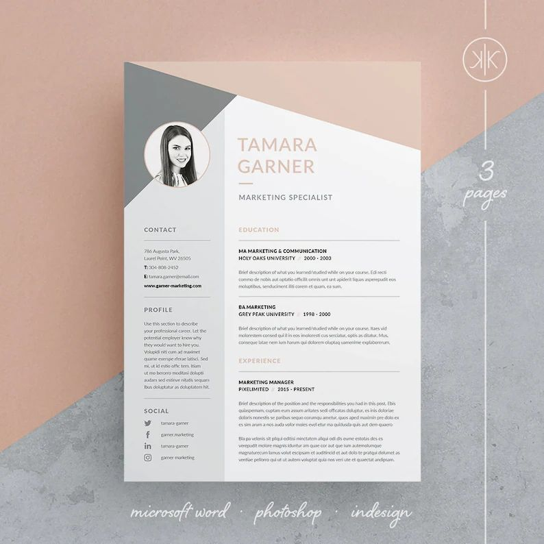 cv moderne indesign