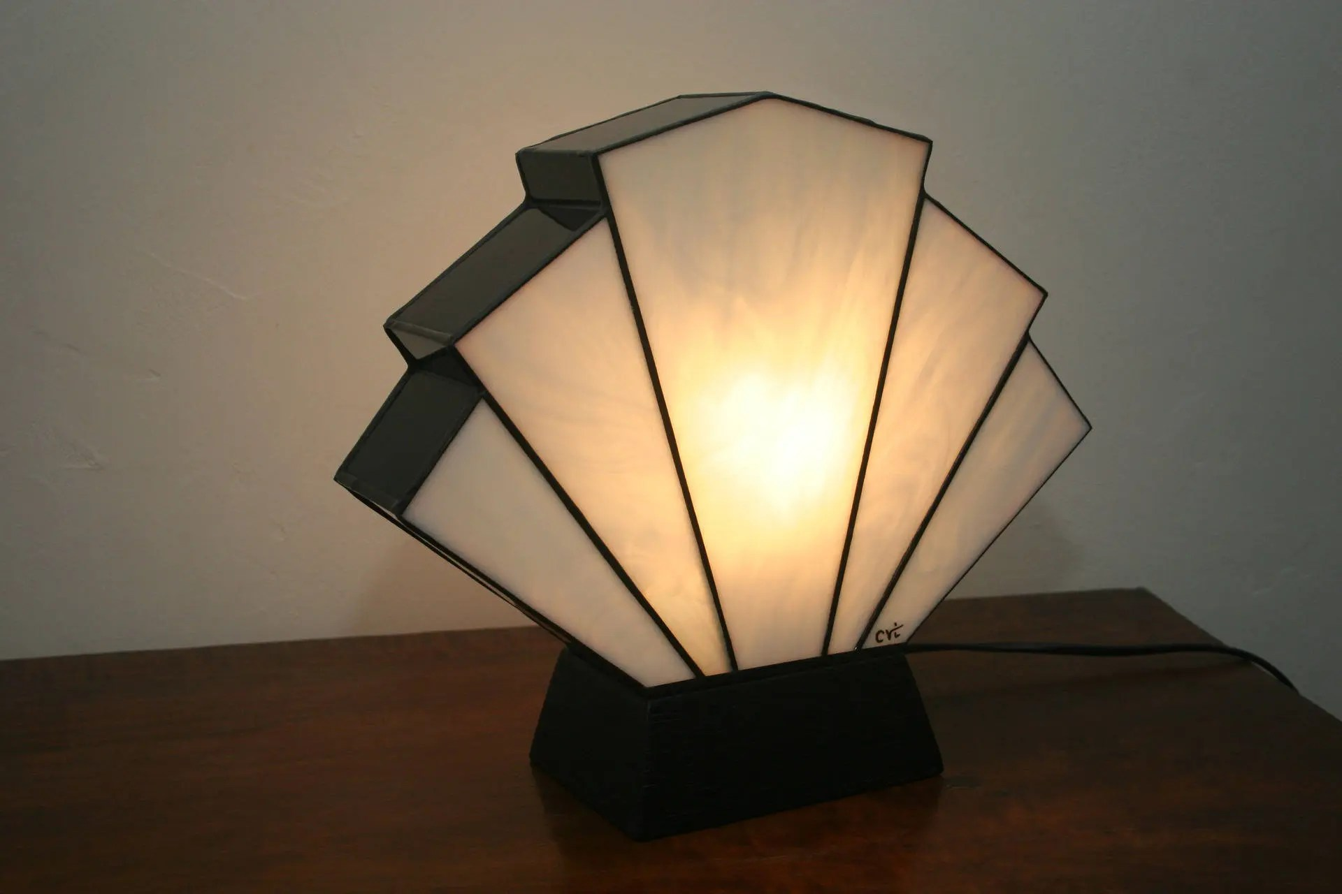 Eßtischlampe Tiffany Lamp Art Deco Lamp Tiffany Art Deco Stained Glass Etsy