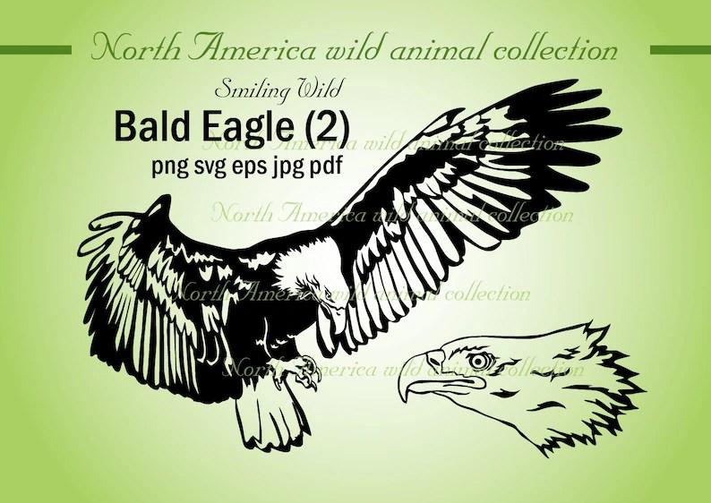 Bald eagle svg clipart United States eagle patriotic vector Etsy