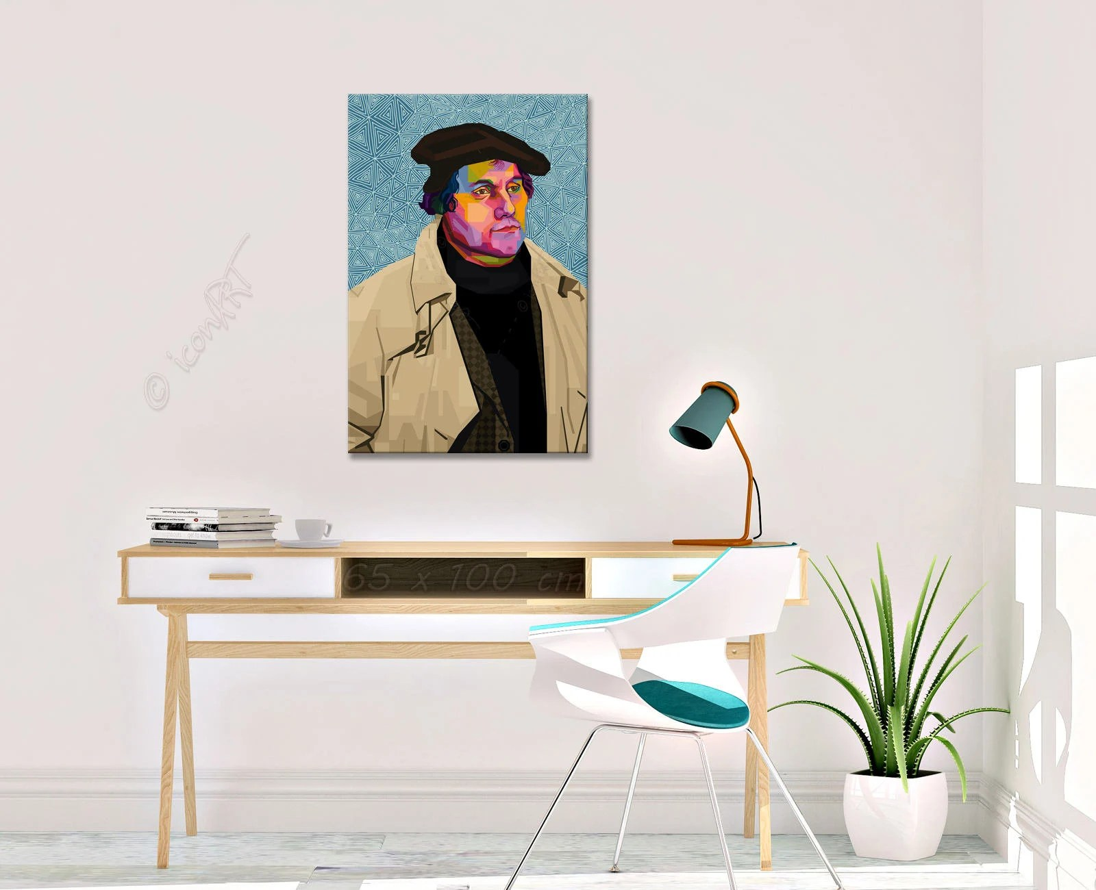 Grafik Kunstdruck Martin Luther Pop Art Grafik Personalisierter Kunstdruck