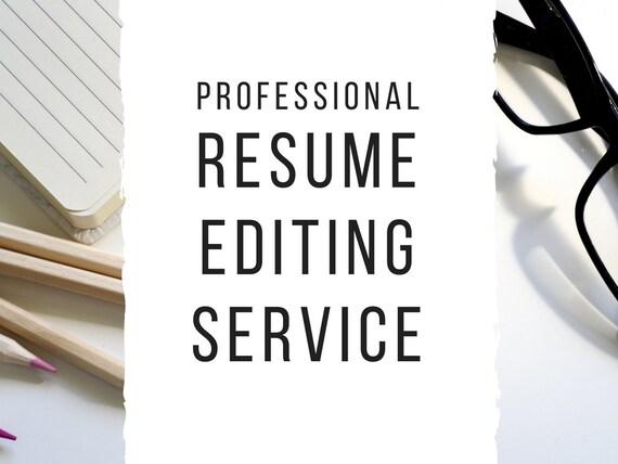 Resume Editing Service Resume Edit Cover Letter Edit Resume Etsy
