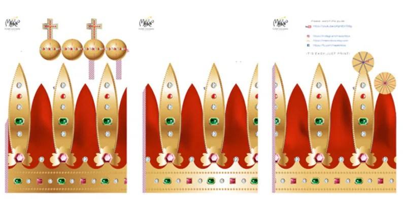 Paper crown template Crown pattern Printable crown Royal Etsy