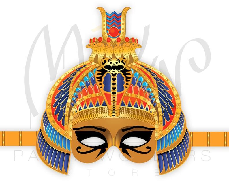Egyptian Princess PRINTABLE mask Egyptian mask Ancient Egypt Etsy