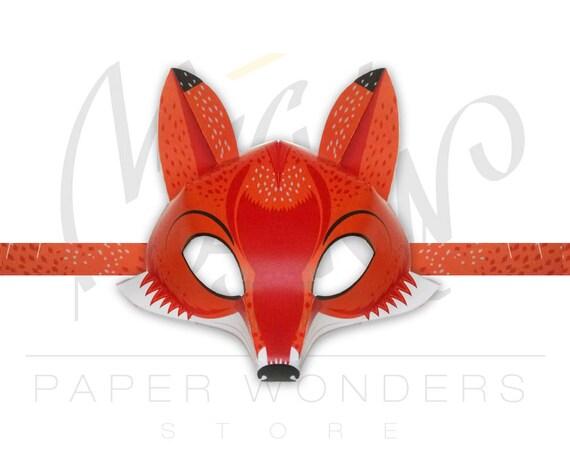 Fox Mask Pattern Fox Mask Diy Fox Printable Mask For Kids