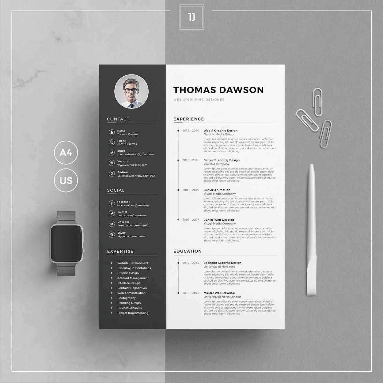 Modern Resume Template  Cover Letter Business Card for Word Etsy - modern resume templates