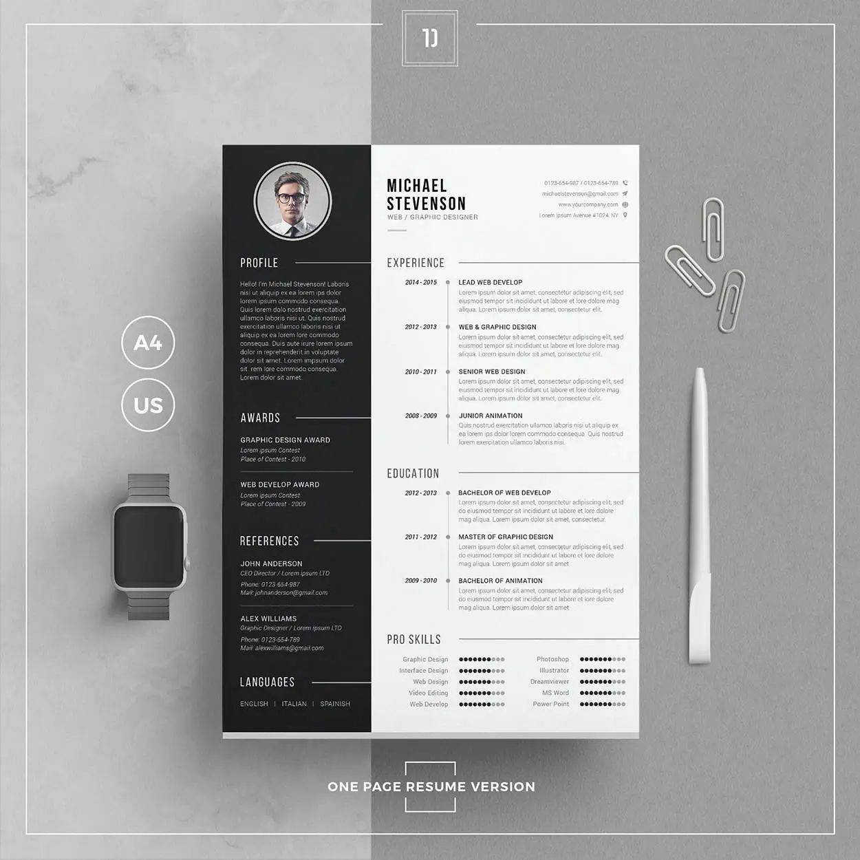 cv template ingenieur word