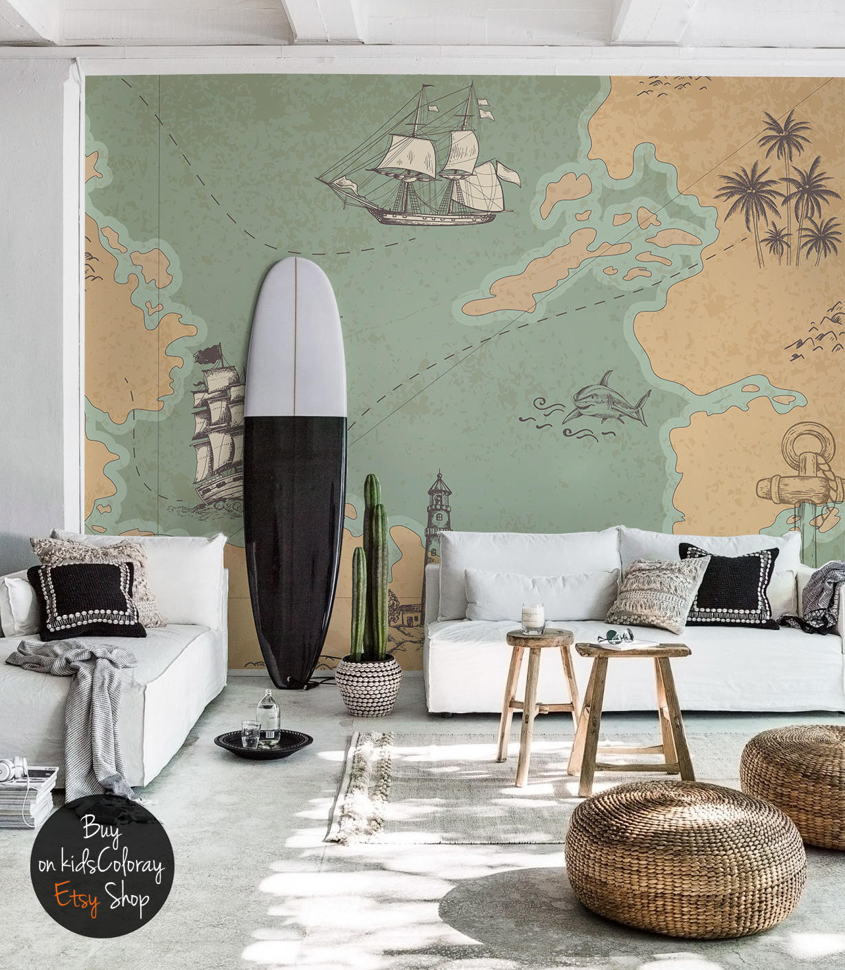 Wallpaper Murals For Bathrooms Treasure Map Wallpaper Old Marine Map Removable Wall Mural Continents Ocean Decor World Map Pattern Wall Covering Repositionable 121