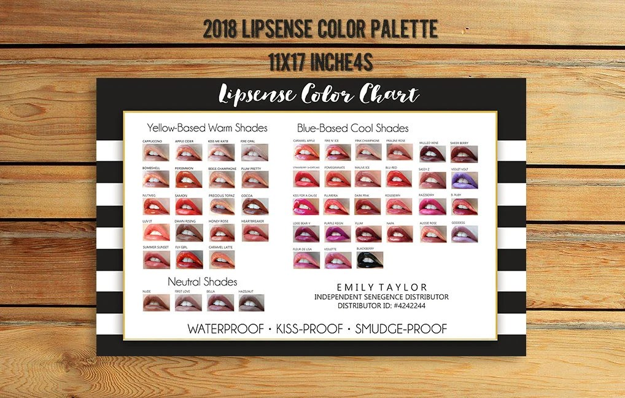 LipSense Color Chart 50 LipSense Colors Lipsense Color