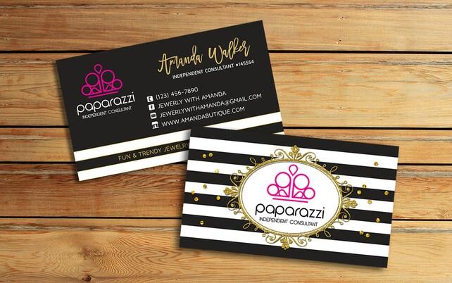 Paparazzi Business Cards - Paparazzi Jewelry Consultant - Paparazzi