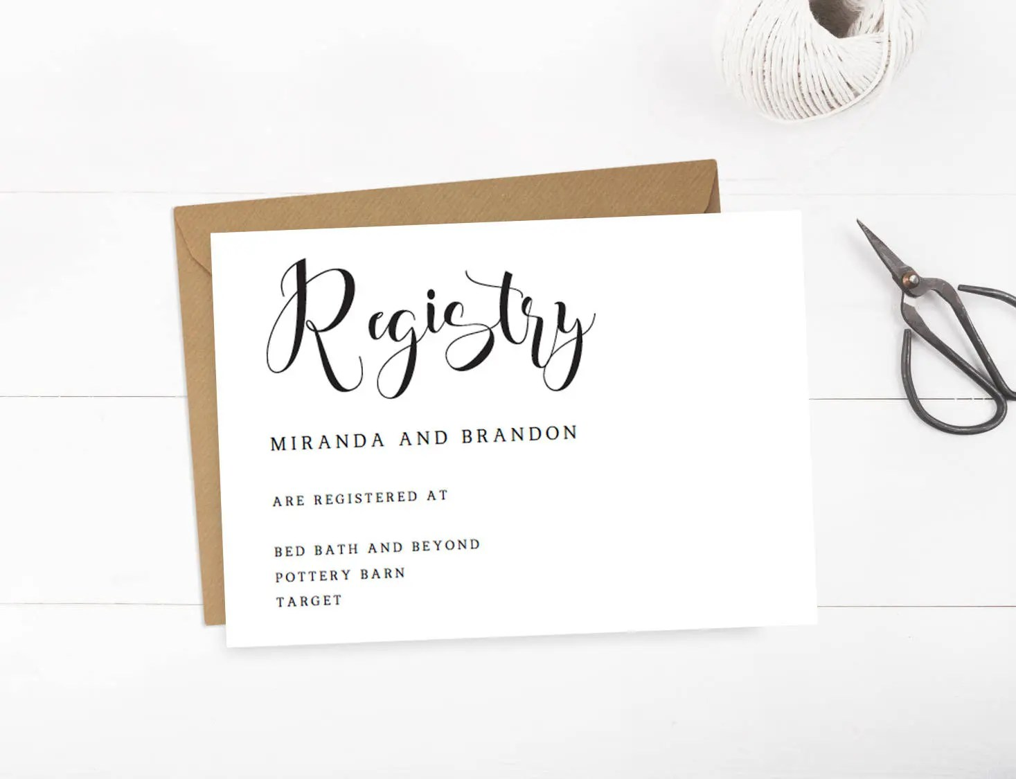 Wedding Registry Cards Baby Registry Card Gift Registry Card Etsy